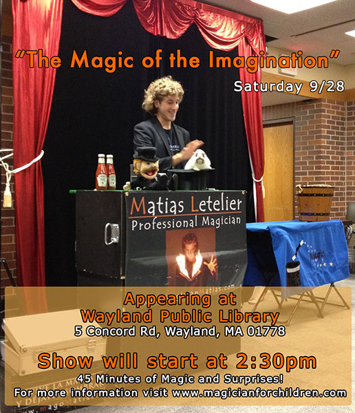 Library Magic Show at Wayland Library